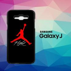 Air Jordan Flight X6020 Casing Custom Hardcase Samsung Galaxy J1 Case Cover