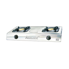 Airlux Kompor Gas 2 tungku GC-2202S - Stainless steel