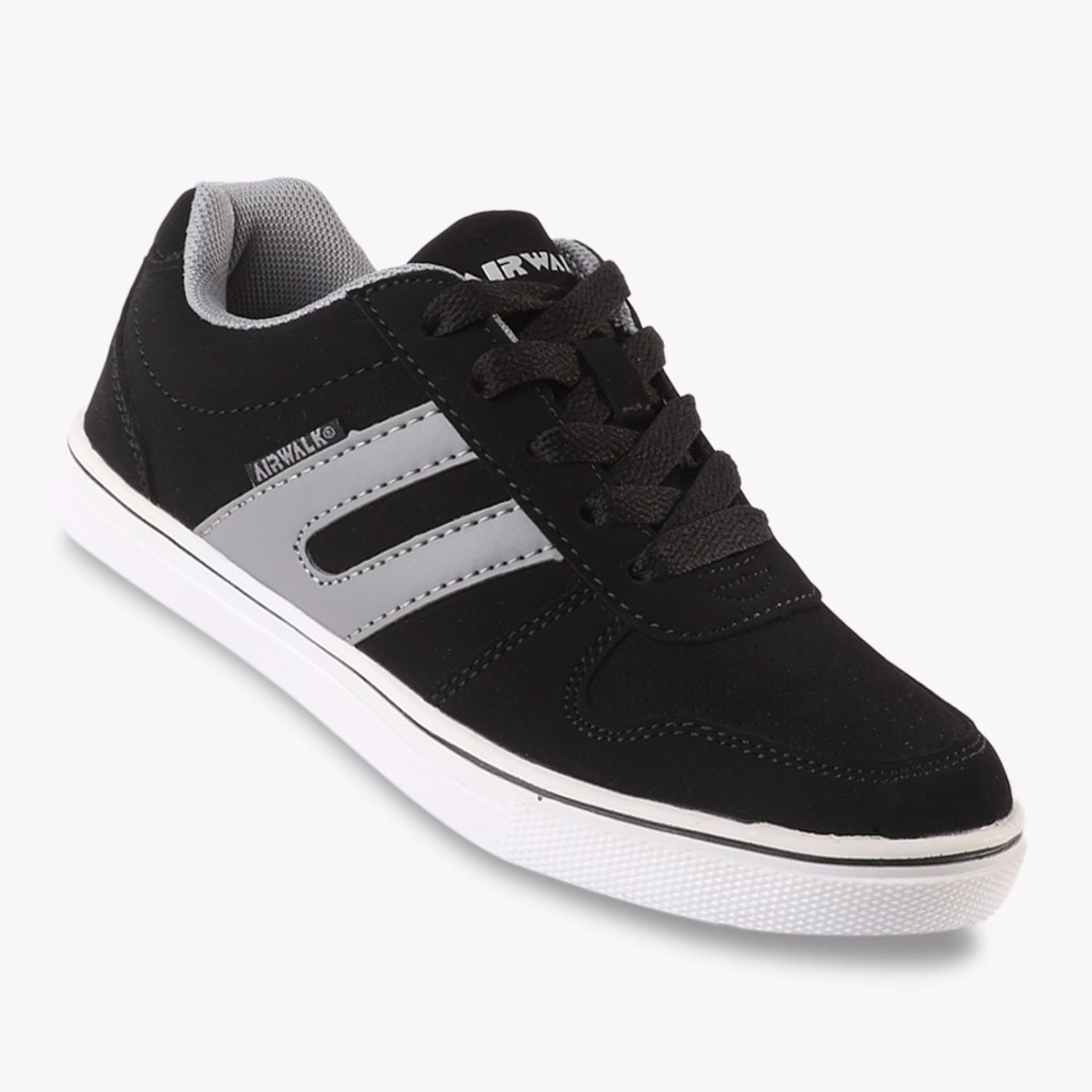 Harga Airwalk Jaky Jr Boys Sneakers Shoes Hitam Yang Murah