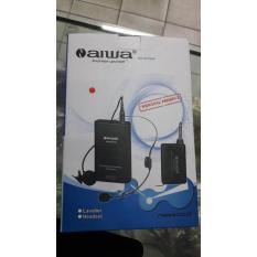 Jual Aiwa Naiwa Na 801 Mic Mik Headset Bando Microphone Mikrofon Wireles Wireless Tanpa Kabel Clip On Bonus Mic Bando Dan Baterai Naiwa
