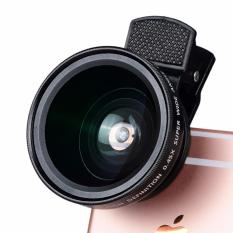 Ajusen HD 52 Mm 0.45X Super Sudut Lebar Lensa dengan 12.5x Super Lensa Makro untuk iPhone 6 Plus 5 S 4 S Samsung S6 S5 Note 4 Lensa Kamera Kit-Intl