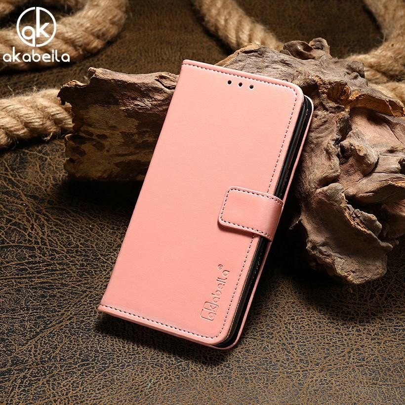 AKABEILA Dompet Kulit Phone Case untuk OPPO A33 A33T OPPO Neo 7 5.0 Inch Mewah Plain Crazy Horse Ponsel Dompet Kasus Cover Card Holder untuk OPPO A33-Intl