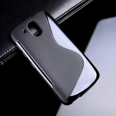 AKABEILA untuk HTC DESIRE 526 526g + 526g Sline TPU Silicone Back Cover untuk HTC 326 4.7 Inch 326G S Line Soft Phone Case Black Sederhana Tas Ponsel Case-Internasional