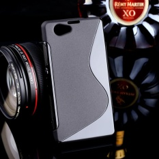AKABEILA untuk Sony Xperia Z1 Kompak Sline TPU Silicone Back Cover untuk SONY Z1 Mini M51W 4.3 Inch S Line Soft Phone Case Black Sederhana Tas Ponsel Case-Internasional