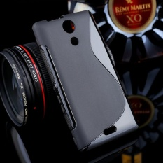 AKABEILA untuk Sony Xperia ZR Sline TPU Silicone Back Cover untuk SONY M36h C5502 C5503 4.6 Inch S Line Soft Phone Case Black Sederhana Tas Ponsel Case-Internasional
