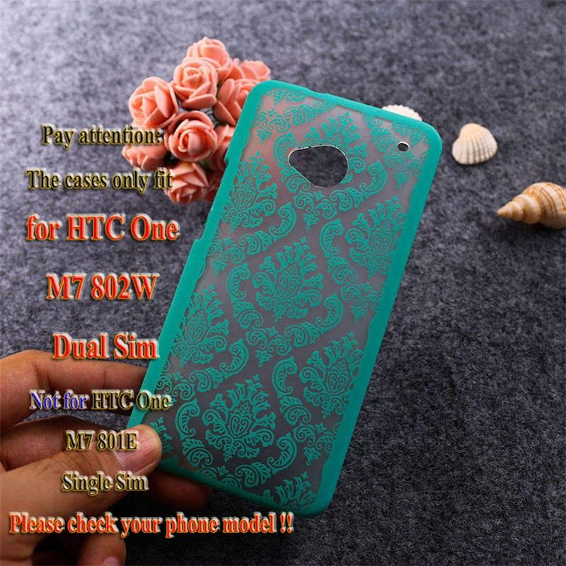 AKABEILA Hollow Flower Phone Cases for HTC ONE M7 802W Dual Sim 802D 802T 4.7 inch Hard Plastic Phone Back Covers Case Bag Housing Protector Shell Hood - intl