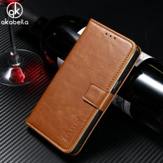 AKABEILA Dompet Kulit Phone Case untuk HTC One 2 Satu M8 M8s M8x 5.0 Inch Mewah Plain Crazy Horse Telepon Dompet Kasus Cover Card Holder-Intl