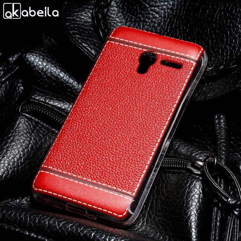 AKABEILA Soft TPU Phone Cover Cases For Alcatel OneTouch Pixi 3 4.5 inch (only for 4G Version) 5017D 5019D one touch pixi3 OT 5017X/5017/5017A/5017E 5019 Covers Litchi Phone Silicone Hood Housing Back