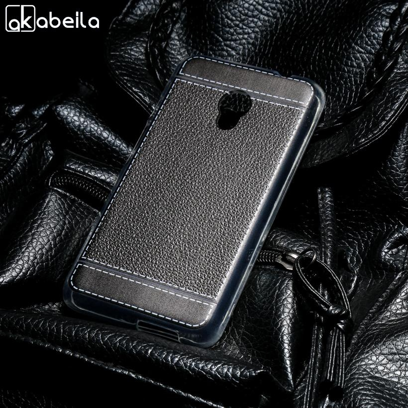AKABEILA Lembut TPU Ponsel Cover Kasus untuk Alcatel OneTouch Pixi 4 5.0 Inch OT-5045 5045D One Touch Pixi4 (5) 5045 5045X 5045D Meliputi Litchi Phone Silicone Hood Perumahan Belakang-Intl