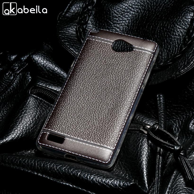 AKABEILA Lembut TPU Ponsel Cover Kasus untuk LG Bello 2 II Prime II X170f LG Max X155 5.0 Inch Covers Litchi Phone Silicone Hood Perumahan Belakang-Intl
