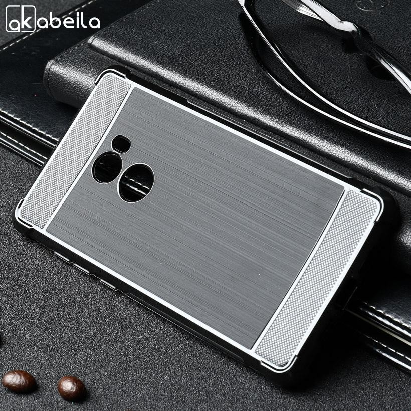 AKABEILA Luxury Soft TPU Phone Cases For Xiaomi Mi Mix 2 Xiaomi Mi Mix Evo 5.99 inch Cover New Carbon Fiber Drawing Drop Resistance Silicone Material Shell Shockproof Black Color Protective Back Cover Case Houisng - intl