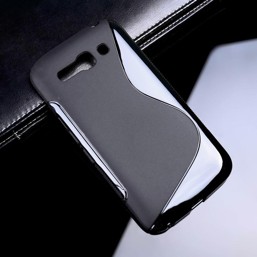 AKABEILA S Line Back Cover Case untuk OneTouch Pop C9 5.5 Inch Lembut Silicone Ponsel Kasus untuk 7047 OT7047D OT 7047 7047D Sline TPU Shell Bumper-Internasional