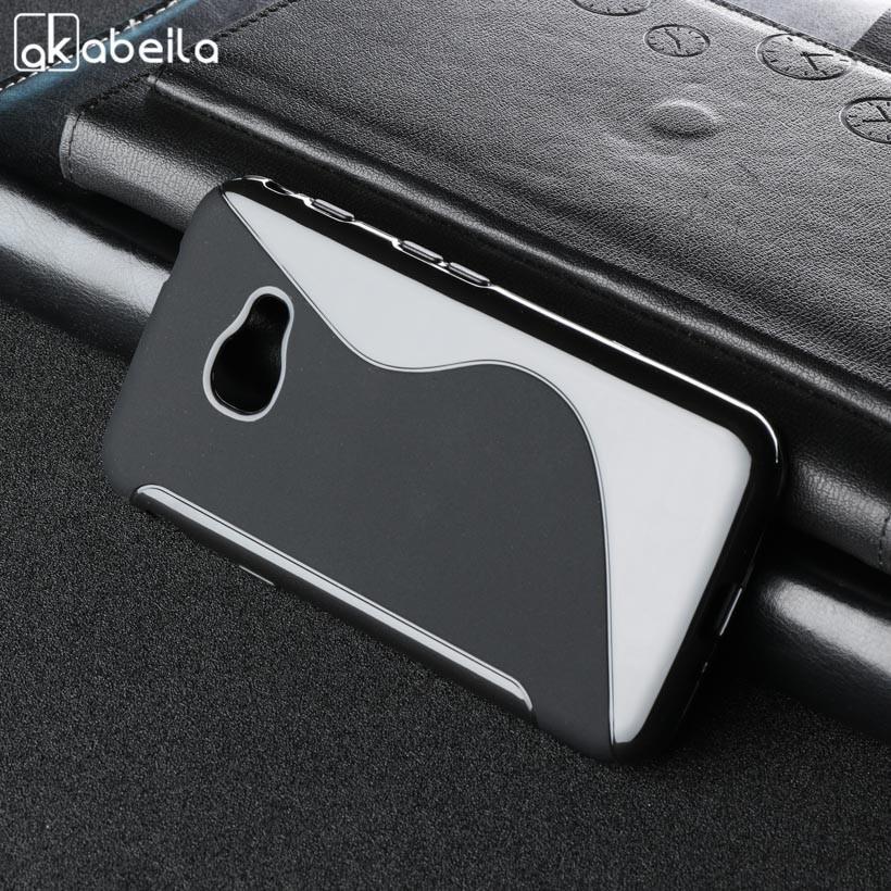 AKABEILA Sline Lembut Silicone Ponsel Case untuk Samsung Galaxy Xcover 4 Samsung Xcover 4 G390F SM-G390F 4.8 Inch Covers S Line TPU Pelindung Phone Shell Perumahan Hood-Intl