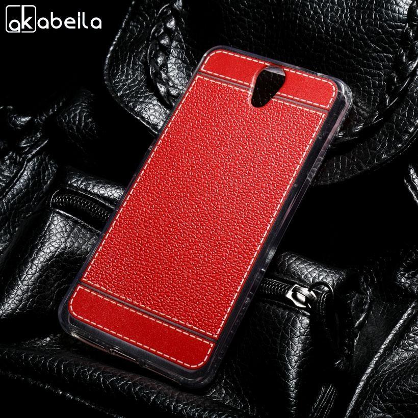 AKABEILA Soft TPU Phone Cover Case untuk Lenovo VIBE S1 Lite 5.0 Inch Meliputi Litchi Tas Telepon Shell Back Silicone Hood Perumahan Kulit untuk LENOVO S1La40-Intl