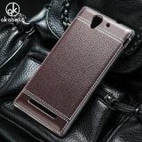 Toko Akabeila Lembut Tpu Ponsel Cover Kasus Untuk Sony Xperia C3 D2533 C3 Dual D2502 S55T S55U 5 5 Inch Meliputi Litchi Tas Telepon Shell Back Silicone Hood Perumahan Kulit Intl Tiongkok