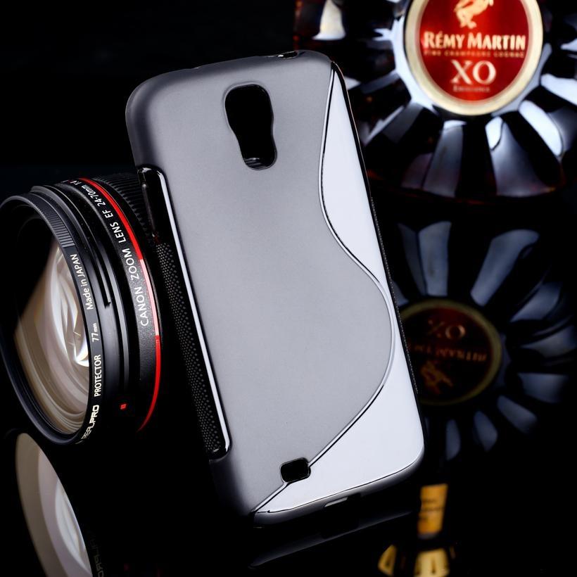 AKABEILA untuk Samsung Galaxy S4 SIV I9500 5.0 Inch Case Sline Kasus Pelindung Telepon untuk I9505 GT-I9500 S4 CDMA SCH-I545 S LINE TPU Slim Soft Silicone Cover Skin Shell Perumahan Bumper-Internasional