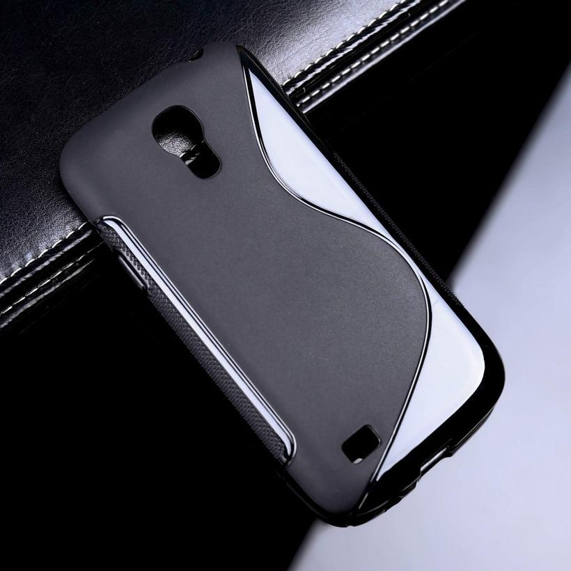 AKABEILA untuk Samsung I9190 Galaxy S4 Mini Duos SIV Mini 4.3 Inch Case Sline Kasus Pelindung Telepon Cocok untuk I257M GA009 S4mini GT-i9190 I9192 S IV Mini SIVmini 9190 S LINE TPU Slim Soft Silicone Cover Skin Shell Perumahan Bumper -Intl
