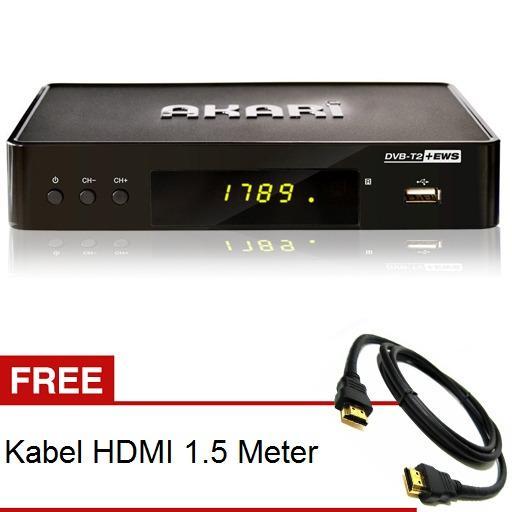 AKARI ADS-168 SET TOP BOX DVBT2 Menjadikan Gambar Bening Tanpa SemutIDR360000. Rp 360.000