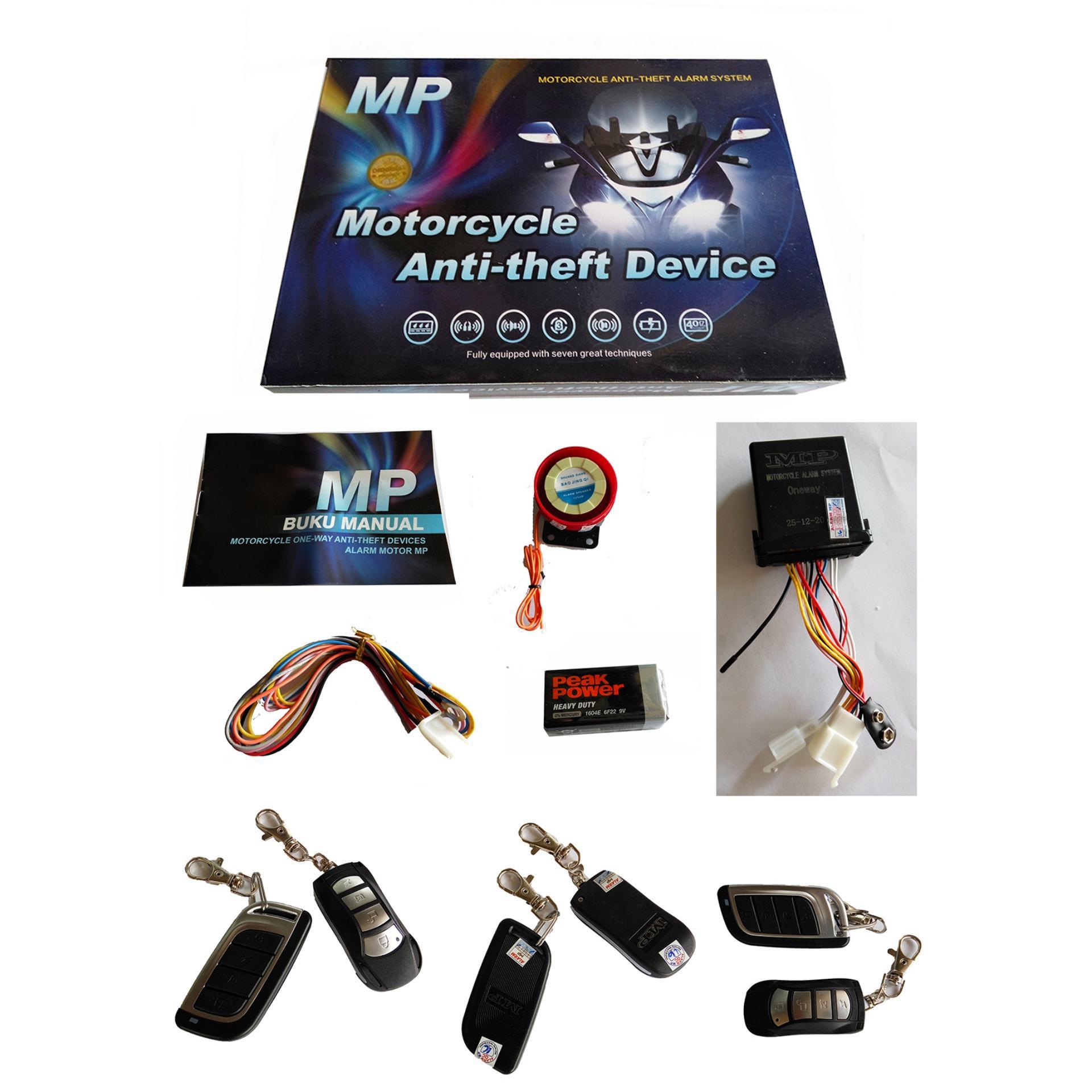 Review Alarm Motor Mp Original Universal Garansi Alarm Oneway Anti Maling Alarm Motor Karbu Injeksi