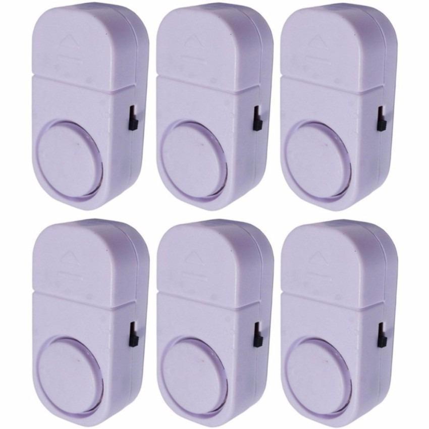 PROMO 7STAR - 6 PCS Alarm Pintu Rumah Canggih Sensor Anti Maling - Putih Original