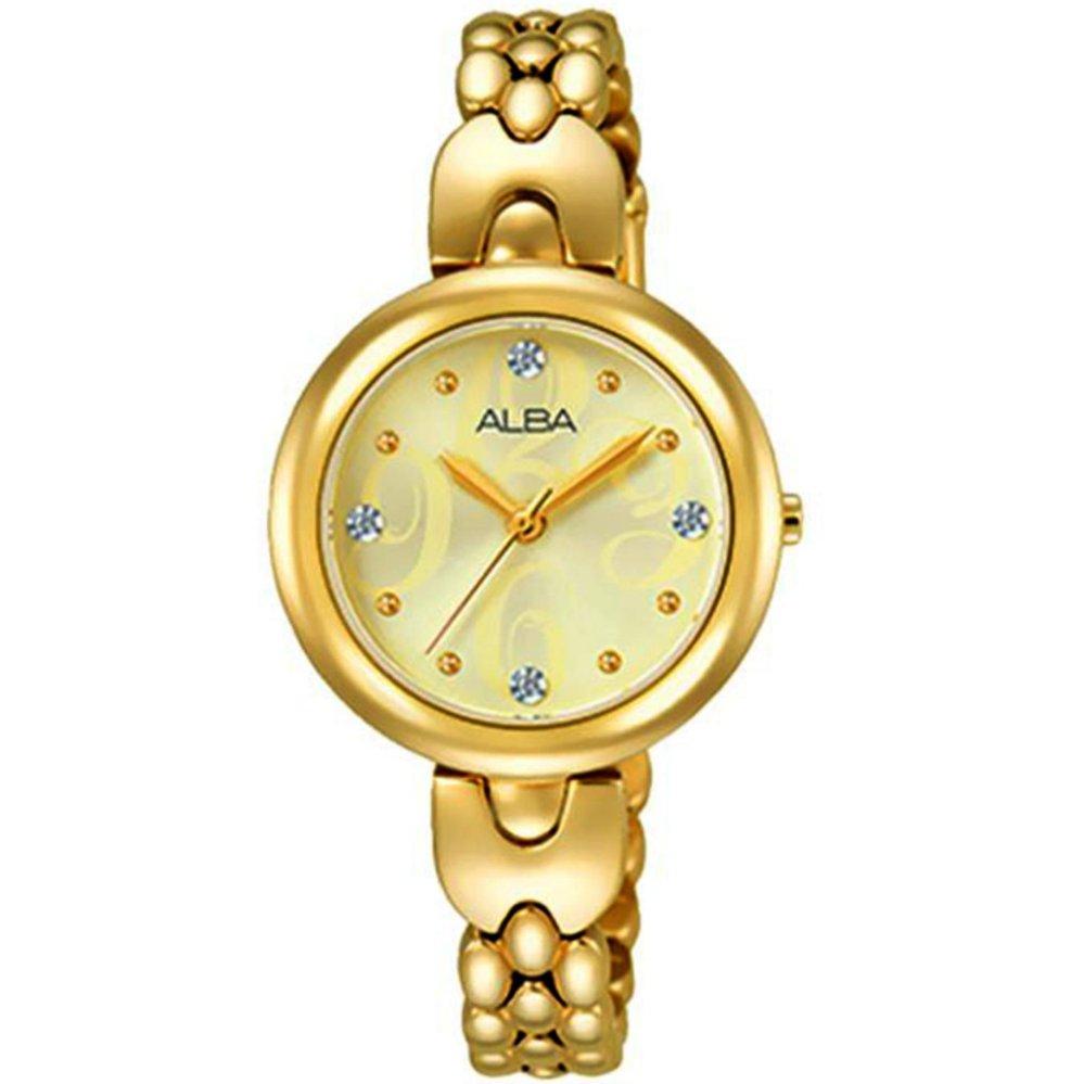 Jual Alba Jam Tangan Wanita Gold Stainless Steel Ah8332 Import