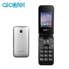 Alcatel 2051D FLIP - Dual Sim - Metal Silver