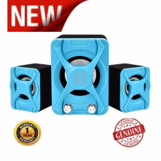 Jual Alcatroz Speaker Portable X Audio 2 1 Super Reflect Bass Biru Grosir