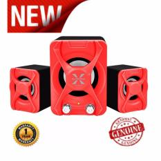 Alcatroz Speaker Portable X-Audio 2.1 Super Reflect Bass - Merah.
