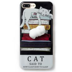 Alila Case Squishy Book Pile Cat for iPhone 6 / 6S Casing Squishy - Hitam
