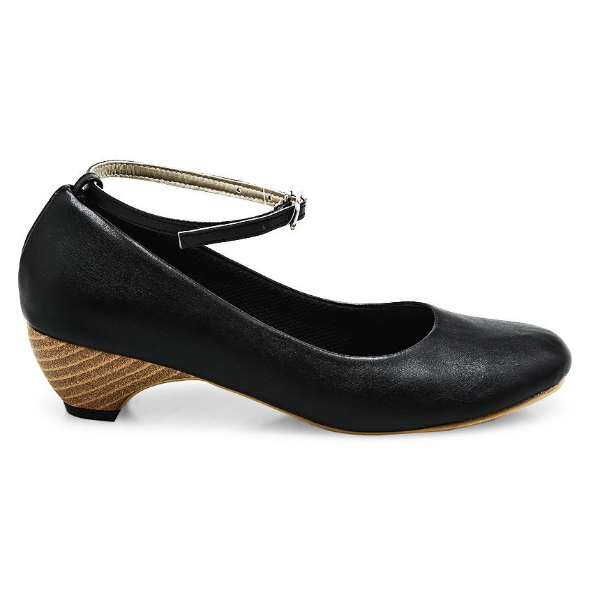 Beli Alivelovearts Balletwood Heels Hitam