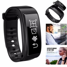 All in 1, Fitness tracker Play Music Answer Calling Microphone Bluetooth TalkBand Heart Rate Monitor Talk Smart Bracelet Sports Listen music Smart Wristband Sleeping Monitor Smart Watch - intl