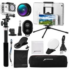 Semua In1 Aksesoris Selfie Stick Tripod Lensa Telepon Travel Kit untuk IPhone 7 XC404-Intl