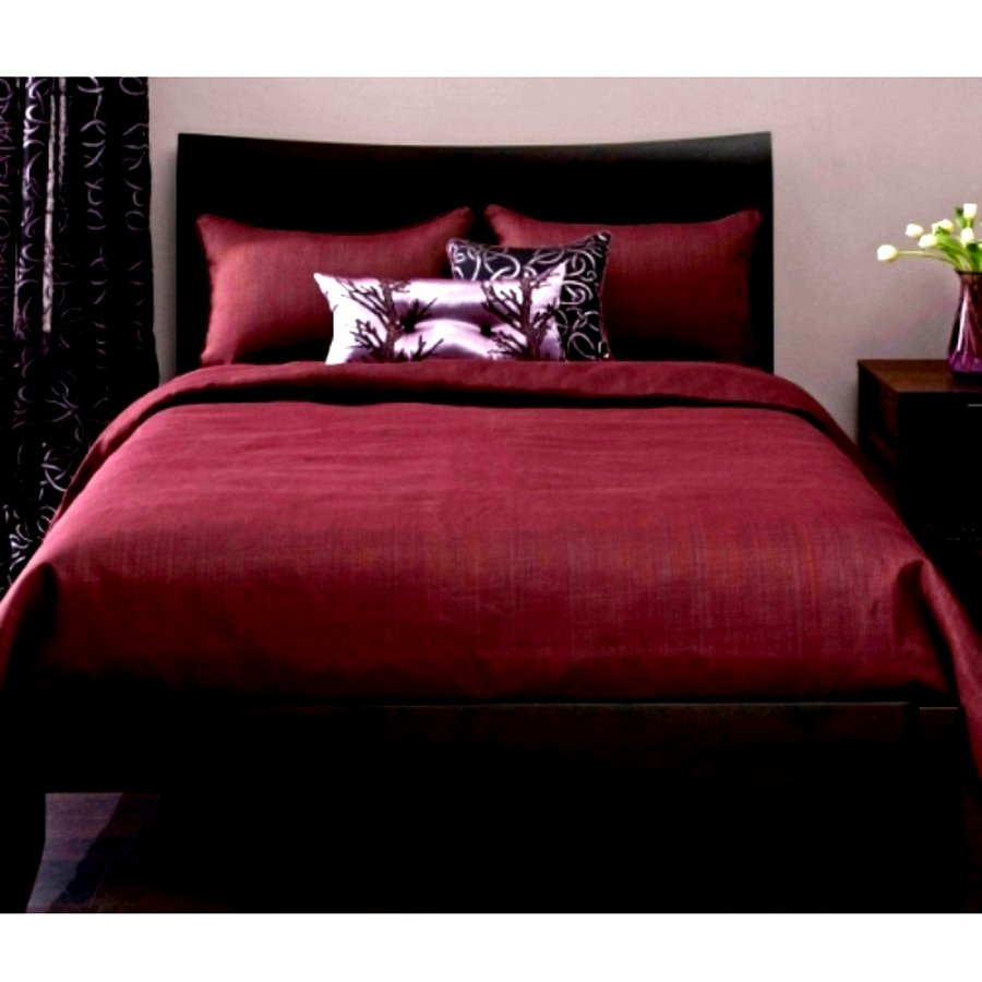 Jual Alona Ellenov Polos Maroon Polos Sprei With Bed Cover Katun Maroon Polos Alona Original