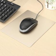 Aluminium Alloy Pad Kecepatan Mousepad Gaming Mat Mouse untuk Macbook Apple HP Dell PC Emas-Intl