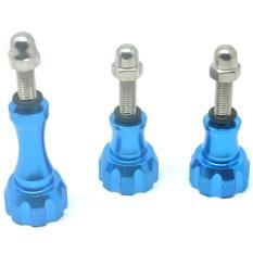 Beli Aluminium Thumb Knob And Stainless Bolt Nut Scr*W 3Pcs For Xiaomi Yi Xiaomi Yi 2 4K Gopro Blue Murah