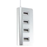 Harga Hub Pemisah Aluminium 4 Port Usb 2 Usb Kecepatan Tinggi For Macbook Laptop Pc Oem