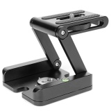 Diskon Paduan Aluminium Aluminium Alloy Folding Z Bentuk Kamera Kepala Pemegang Fotografi Video Flex Pan Tilt Kepala Compatible With Sliding Rail Tripod Thinch