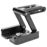 Harga Paduan Aluminium Aluminium Alloy Folding Z Bentuk Kamera Kepala Pemegang Fotografi Video Flex Pan Tilt Kepala Compatible With Sliding Rail Tripod Dan Spesifikasinya