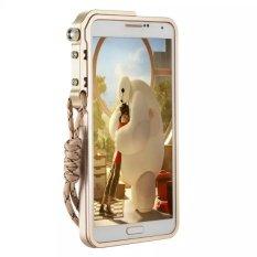 Diskon Aluminium Paduan Lengan Mekanis Logam Case Untuk Samsung Note3 Emas Tiongkok