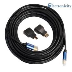 Aluminium HDMI Kabel + Mini Mikro HDMI Adaptor V1.4 HD 3D untuk Xbox HDTV