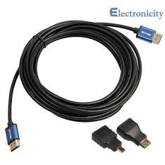 Aluminum HDMI Cable + Mini Micro HDMI Adapter V1.4 HD 3D for Xbox HDTV
