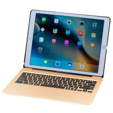 Miliki Segera Aluminium Keyboard Case F07 Dengan 7 Warna Backlight Untuk Ipad Pro 12 9 Emas