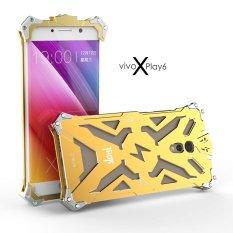 Aluminium Bingkai Logam Belakang Sampul Case untuk VIVO Xplay6 (Emas)
