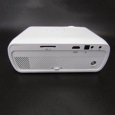 Aluo Mini LED Proyektor Video Home Proyektor dengan Dukungan HDMI 1080 P untuk Home Cinema Theater TV Game Laptop Bisnis SD Smartphone-Putih-Intl