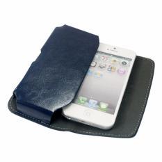 Alvaro Leather Case For Smartphone 5inch - Biru