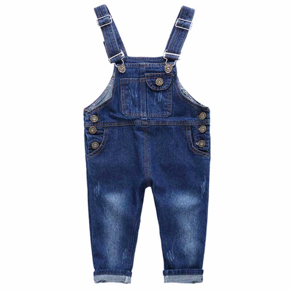 Beli Amart Fashion Girls Boys Jumpsuit Celana Jeans Pocket Jumpsuit Denim Bib Celana Intl Online Terpercaya