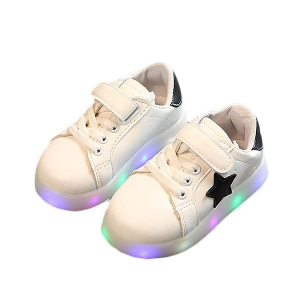 Amart Fashion LED Sepatu Light Up Bercahaya Sepatu Sneakers Luminous dengan Sol Cahaya-Intl