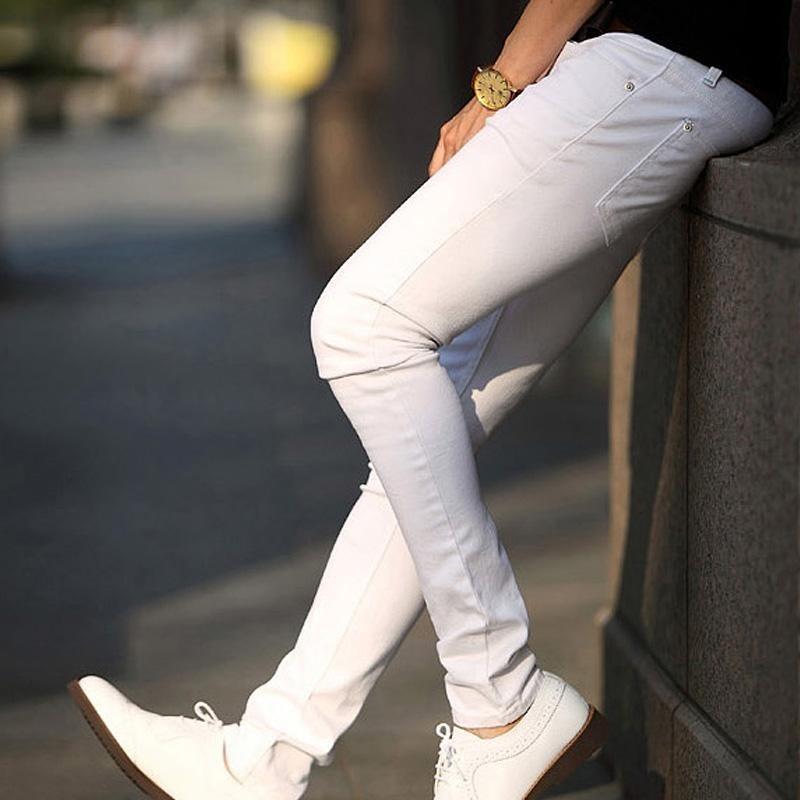 Beli Amart Kasual Pria Tampan Pemuda Ramping Fit Celana Untuk Pesta Putih Amart Online