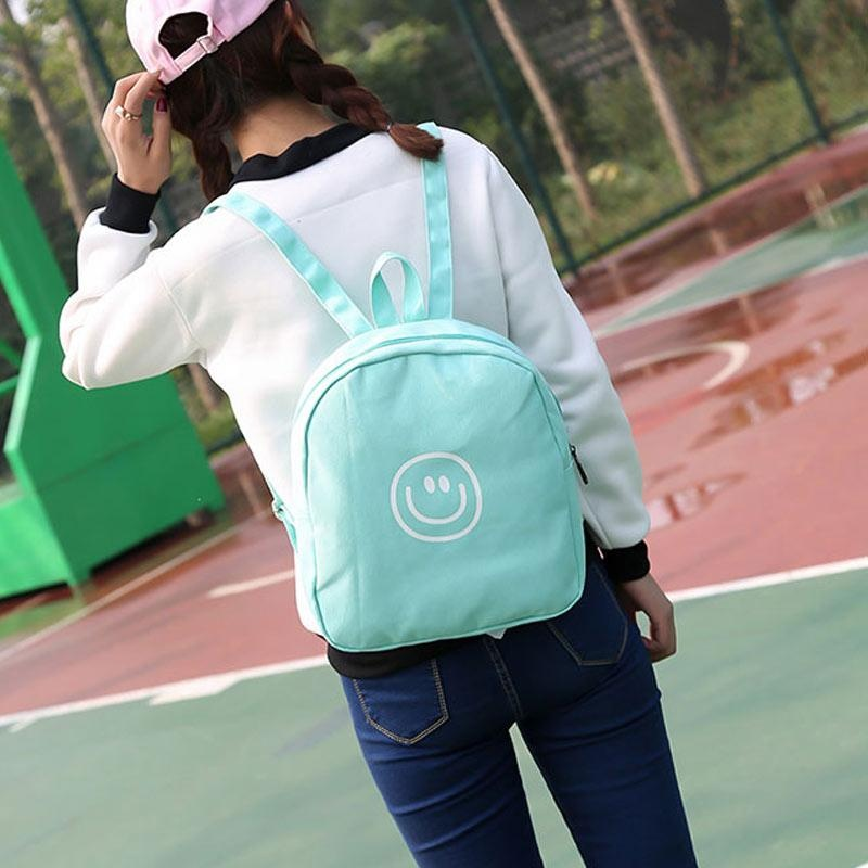 Spek Amart Simple Fashion Harajuku Women Mini Backpack Canvas Zipped Shoulder Bag Girls Student Sch**l Bags Gifts Intl Amart
