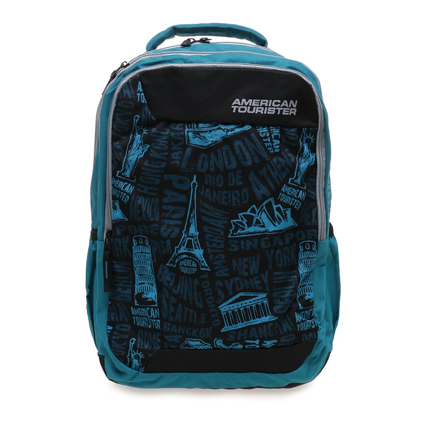 Review American Tourister Tas Code Backpack Turquoise Indonesia